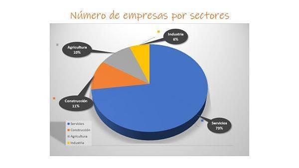 Numero de empresas por sectores opt